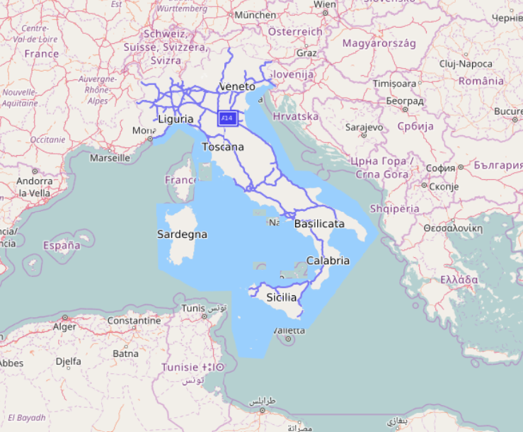 Italy imported with data polygon