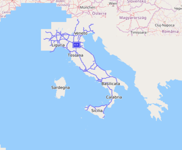 Italy imported without data polygon